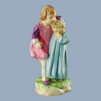 Vintage Royal Worcester Babes in the Wood Nursery Rhymes Figural Group Freda Doughty 3302 Pre 1956