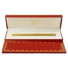 Vintage Les Must de Cartier Trinity Motif Gold Plated Felt Tip Pen