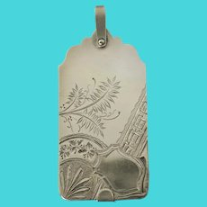 Large Antique Aesthetic Movement Sterling Silver Aide Memoire Pendant by D.S. Spaulding Co