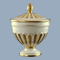 Vintage Ugo Zaccagnini Italian Ceramic Lidded Urn