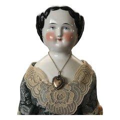 Stunning China Head Doll - Kling 1860: Very Beautiful