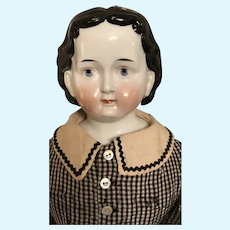 """Wonderful Exposed Ear China Head Doll """" Greiner Style"""" 25"""""""
