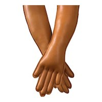 Gorgeous Leather Replacement Hands for Antique Doll
