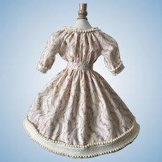 """1860 Style New Dress / Civil War Reproduction Fabric 20-24"""" doll"""