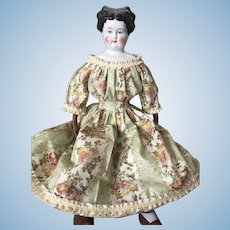 "1860 Style New Dress / Civil War Reproduction Fabric 20-24"" doll"