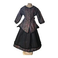 "Two Piece Dress for Antique Doll 30""-32""+"