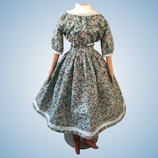 "Wide Neckline 1860's Style New Dress 26""-30"""