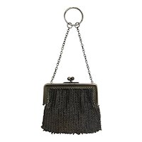 Small Antique Mesh Purse For Doll