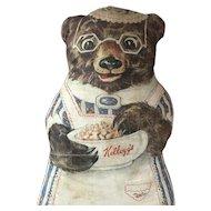 Kellogg's Advertising Cloth Mama Bear with Glasses