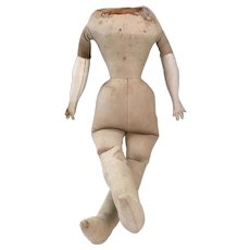 Delightful Hard To Find Smaller Antique Cloth Body