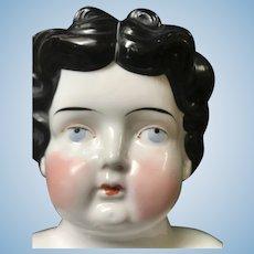 Chubby Cheek Late Hertwig China Doll Head - Large Size