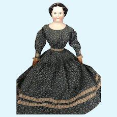 "26"" Antique Uncommon China Head Doll/ Original Undergarments"