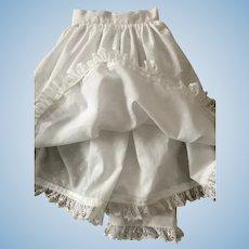 Beautiful Slip/Pantaloon Set for Large Antique Doll