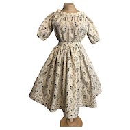 "Off Shoulder 1860's Style New Dress 28""-30"""
