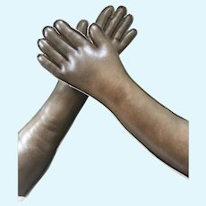 Replacement Italian Leather Arms for Antique Doll / Size Large