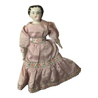 """6 1/2"""" Antique China Doll"""