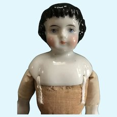 "13 1/4"" Highland Mary China Head Doll/ Cabinet Size"