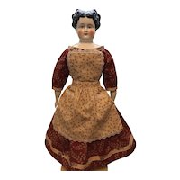 """Off Shoulder 1860's Style New Dress / Pinner Apron 2 pc. Set 20""""-24"""""""
