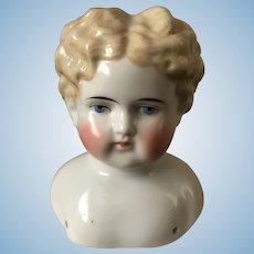 Antique China Doll Head/ ABG Pale Blonde