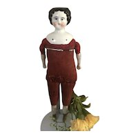 Adorable Antique Cabinet Size China Head Doll