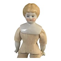 "6 3/4"" Blonde China Head Doll"