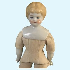 "6 3/4"" Blonde China Head Doll"