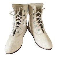 Rare Fur Antique Baby Shoes / Paris / Original Box