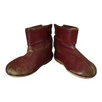 Red Leather Boots from 1950's