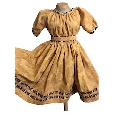 """Large Cotton Dress For Approximate 28""""China, Paper Mache"""