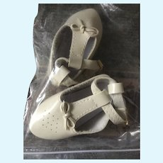 Old Store Stock Cream Color Shoes In Package
