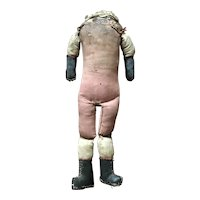 """Old Cloth Doll Body 12"""""""