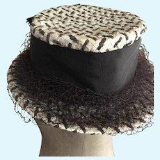 Large Vintage Straw Hat