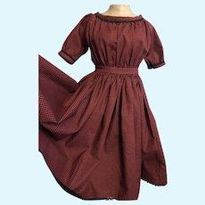 "Off Shoulder 1860's Style New Dress 28""-30"""