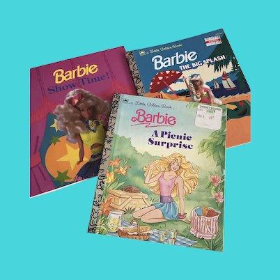 Set of 3 Barbie Books / Little Golden Books/ Golden Look Look Book