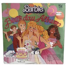 Barbie Birthday Record Album - NRFP