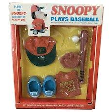 Snoopy Plays Baseball Playset- Vintage- NRFB