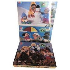 Set of 3 Milton Bradley Cabbage Patch Kids Puzzles - NRFB