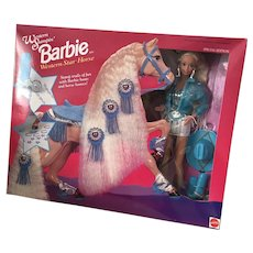 Western Stampin Barbie with Horse Special Edition Gift Set