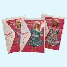 Happy Easter Barbie Fashion Greeting Card Set Of 3 NRFP