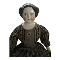 Very Large Antique China Head Doll- No Damage