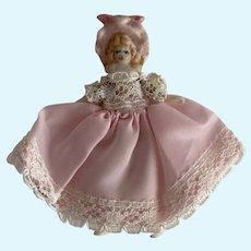 Tiny Artist Made Bisque Bonnet Head Doll