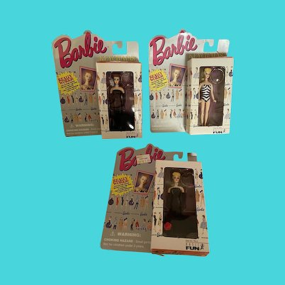 Set of 3 Barbie Key Chains - NRFB