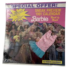 Barbie 15 month Calendar with Outfit- NRFP 1991