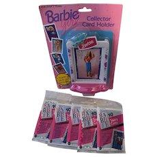 Barbie Collector Card Holder / 5 Packs Trading Cards - NRFP