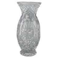 Vintage Large Cut Crystal Vase