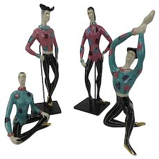 Mid-Century Harlequin Dancer Figurines by Marc Bellaire