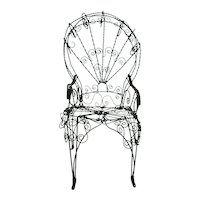 Antique Doll Chair Victorian Wire