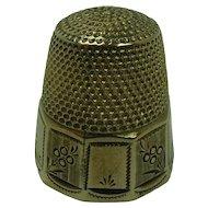 Victorian 10K Gold Thimble, size 7
