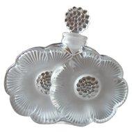 Vintage Lalique France Deux Fleurs Perfume Bottle