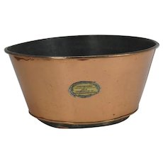 Antique Copper Champion Milk Cooler Aerator Pan